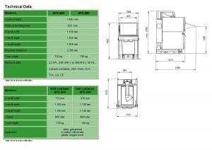 APS 800 - 600 Technical Data