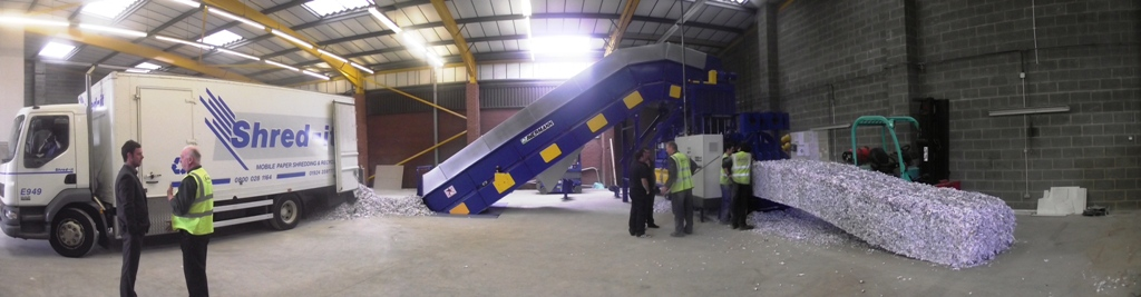 Kenburn installs Avermann horizontal baler at Shred-it