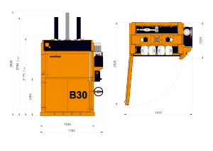Bramidan B30 Technical Drawing