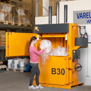 Bramidan B30 Vertical Baler supplied by Kenburn