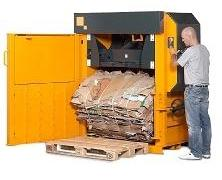 Bramidan X16 Vertical Waste Baler supplied by Kenburn
