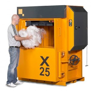 Bramidan X25 AD vertical waste baler supplied by Kenburn