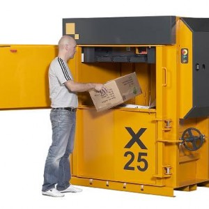 Bramidan X25 vertical waste baler supplied by Kenburn