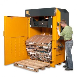 Bramidan X30 vertical waste baler supplied by Kenburn
