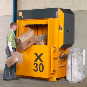 Bramidan X30 AD Vertical waste baler supplied by Kenburn