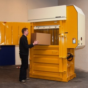 Bramidan X50 Vertical Baler supplied by Kenburn