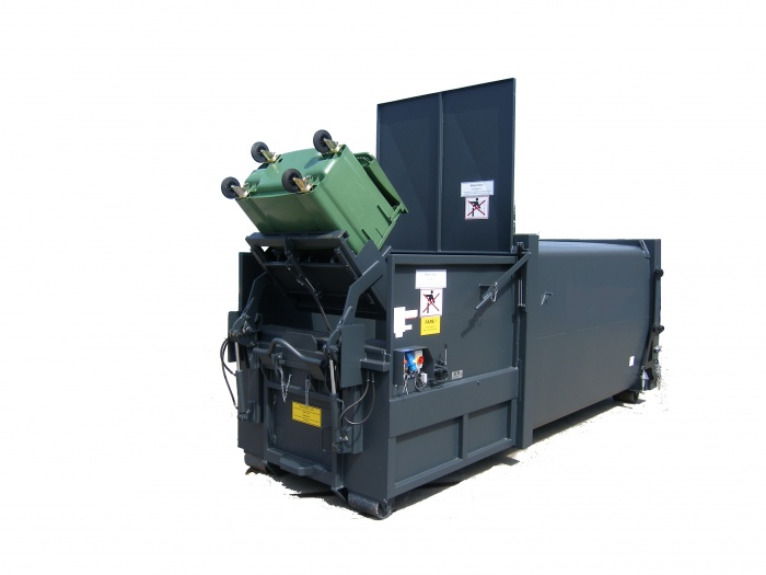 Waste Compactor round shape with Bin lift