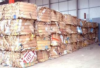 waste cardboard bales