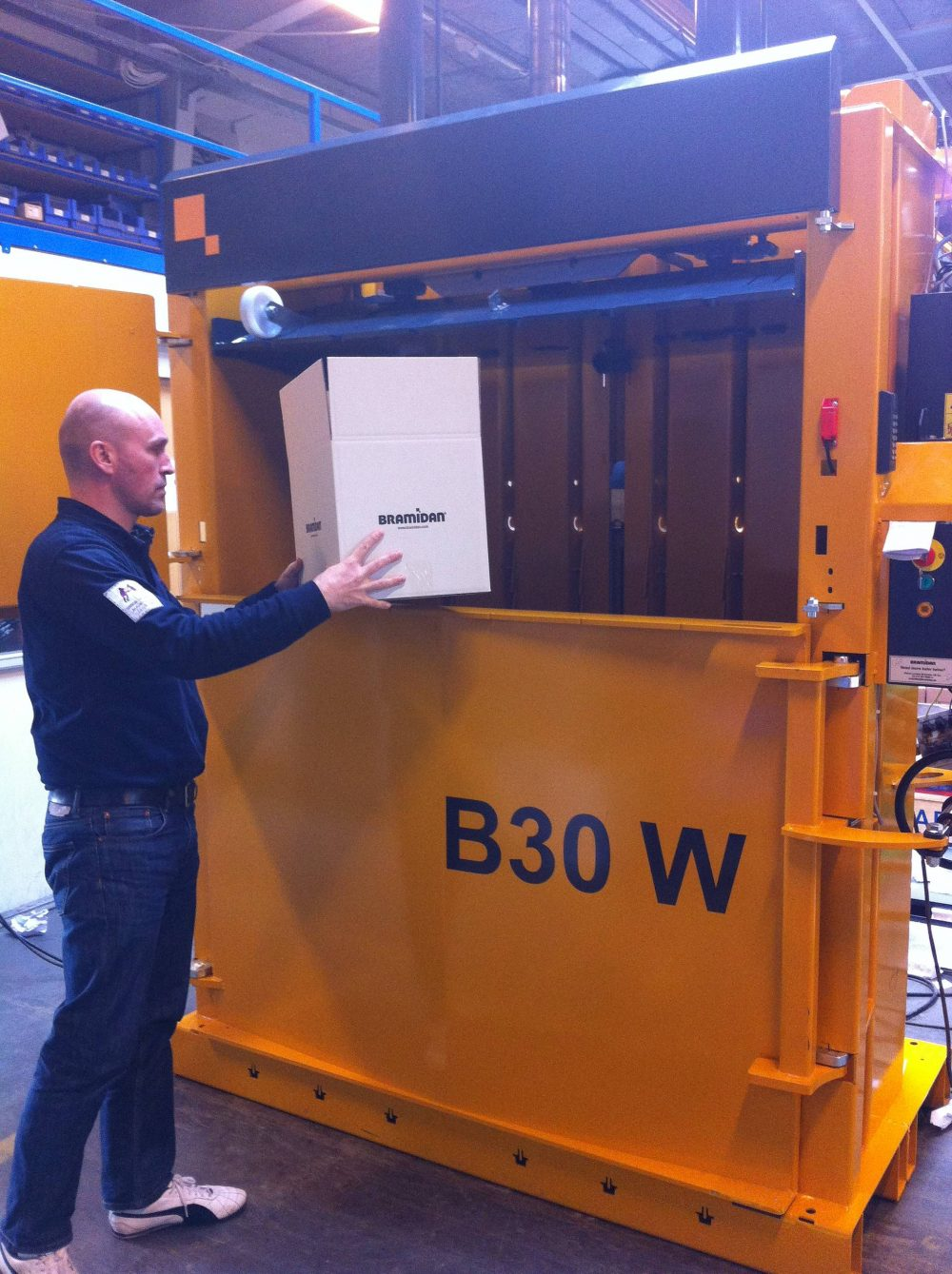 Bramidan B30W waste baler supplied by Kenburn