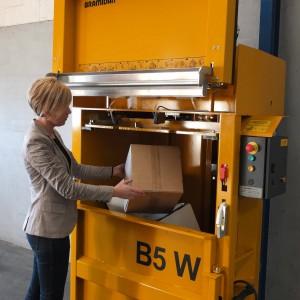 Bramidan B5W VD waste baler supplied by Kenburn