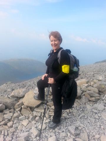 Karen climbing Ben Nevis - Kenburn