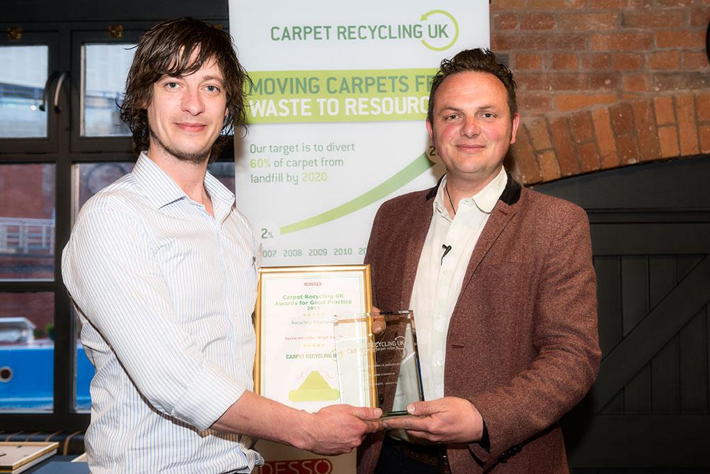 Arighi Bianchi receiving recycling award