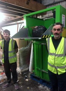 Compact general business waste with Bergmann roto compactor installed at A G Parfett